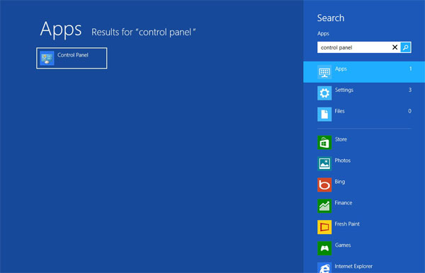 win8-start-menu Comment supprimer Search.packageintransit.com